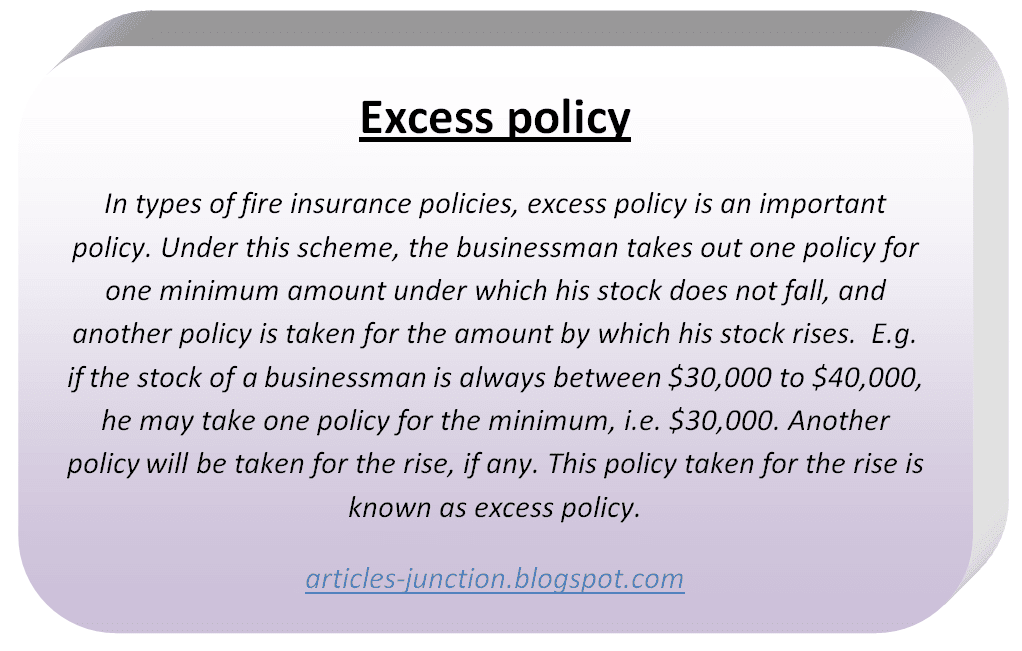 Excess policy