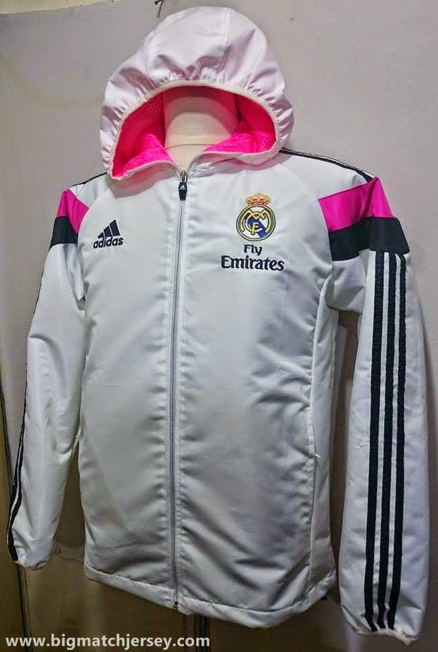 Jaket Waterproof Madrid New Season White