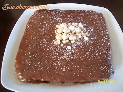 Torta alle nocciole con ganache al cioccolato