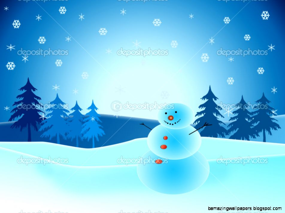 Snowman in winter scene — Stock Photo © melking 1905492