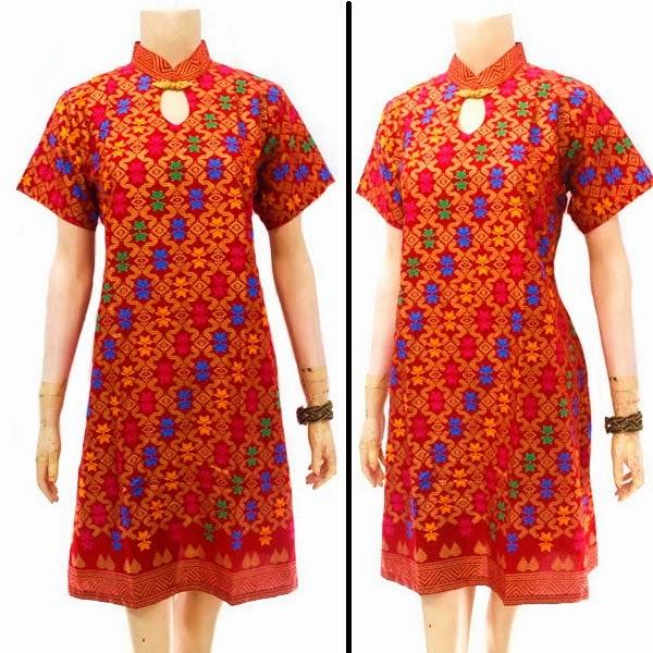 Baju Dress Batik Motif Prada