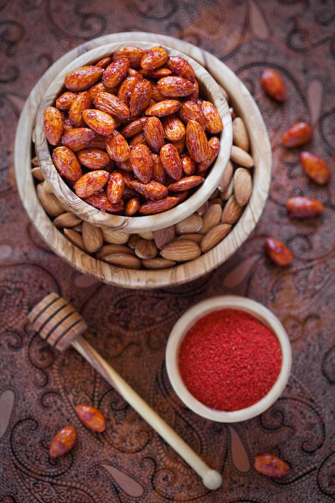 Nueces+Caramelizadas+con+Miel+y+Chile+Pi