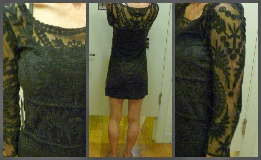 Express Embroidered Lace Dress, Black, holiday dress, little black dress, LBD