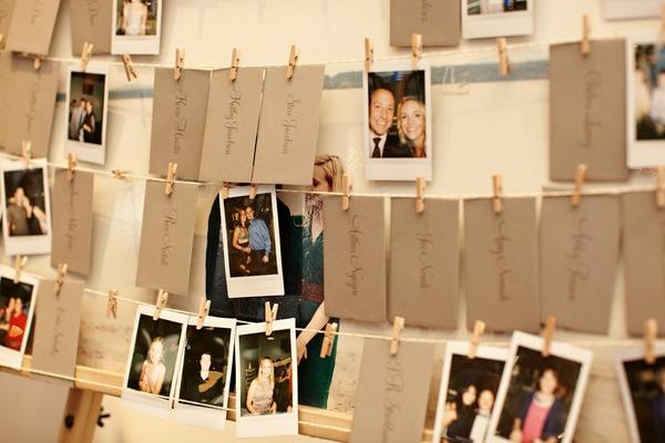 Una polaroid en la boda