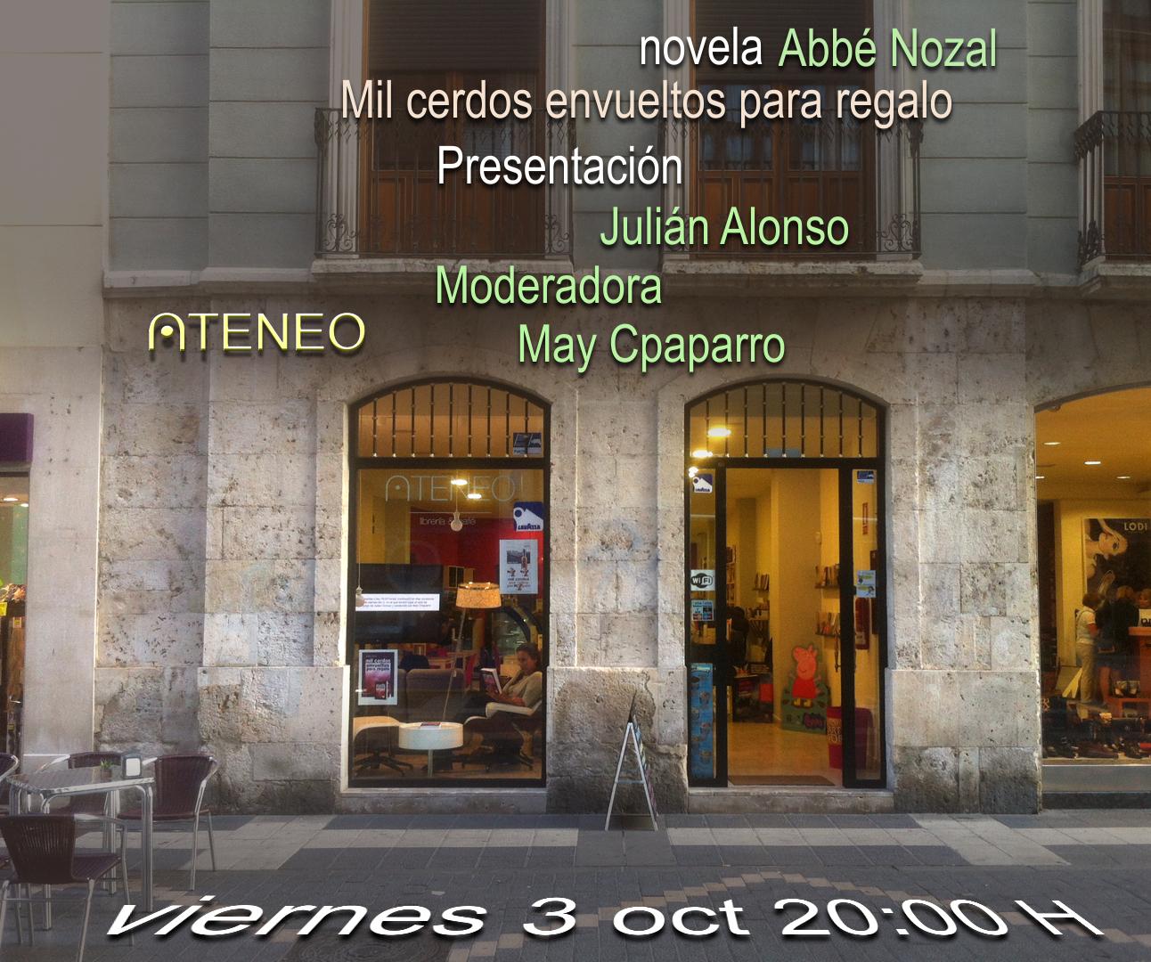 Presentación novela, 2014 Abbé Nozal