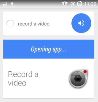 Camera Voice Commands for Android