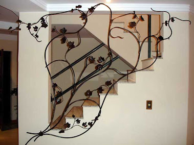 Decoração e Proteção para Escada motivo Parreira de Uvas ..