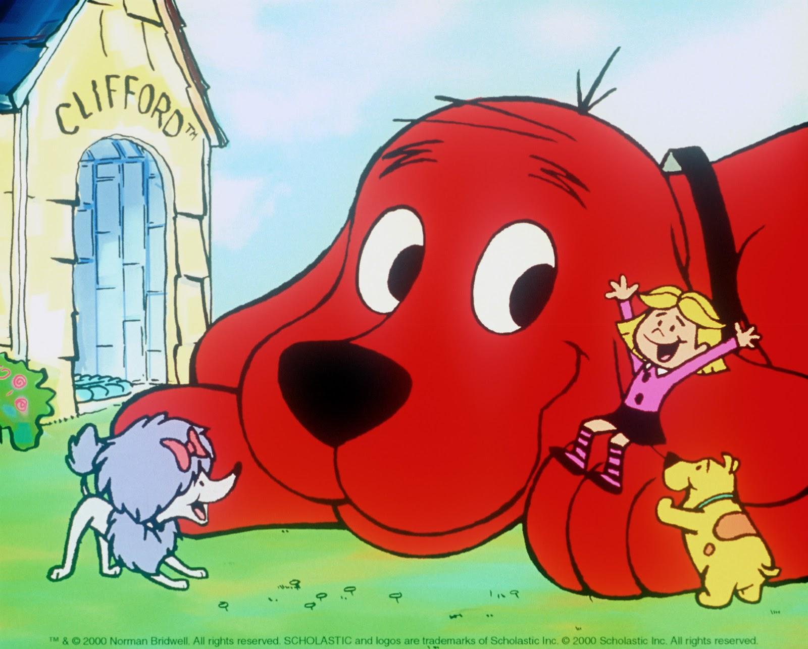 Excelente Clifford Los Personajes Grandes Del Perro Rojo Para ...