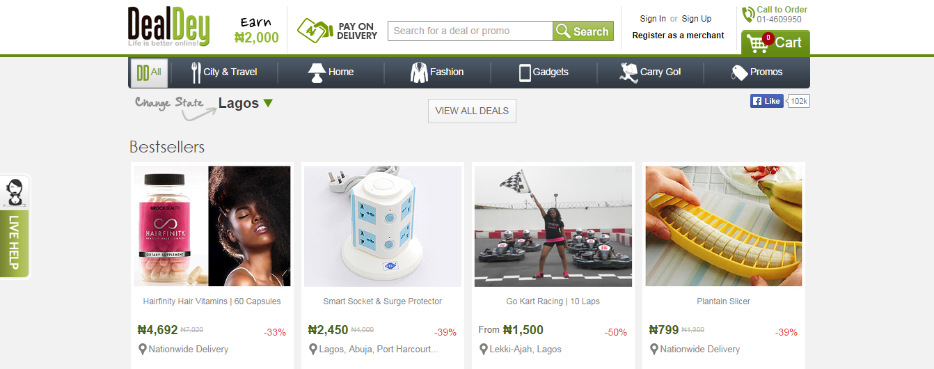 Dealdey nigeria online deals and discount shopping sites for Good cheap websites for shopping