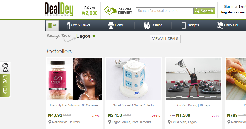 Dealdey nigeria online deals and discount shopping sites for Online discount shopping sites