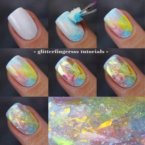 Nails Art Step By Step Tutorial #19..