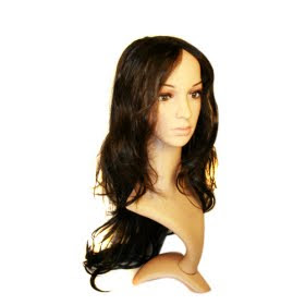 Chinese Capless Extra Long Synthetic Brown Curly Hair