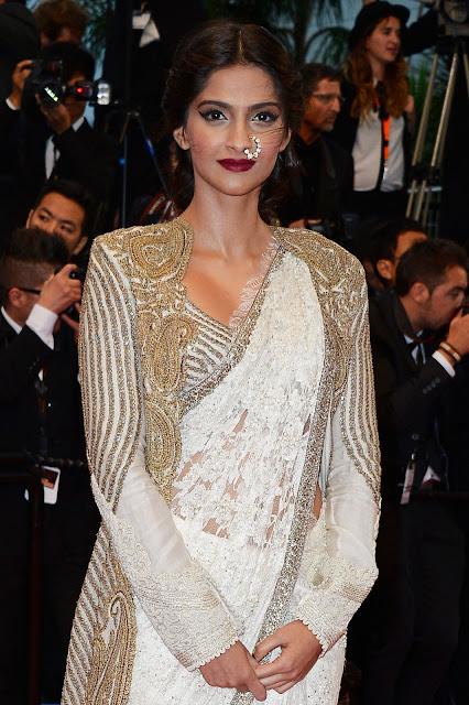 Sonam Kapoor Cannes 2013 in Anamika Khanna, Jimmy Choo and Sunita Kapoor