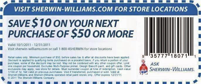 Sherwin williams discount coupon