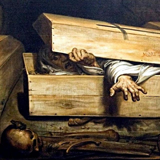 Antoine Wiertz - Detalje fra 'Levende begravet'