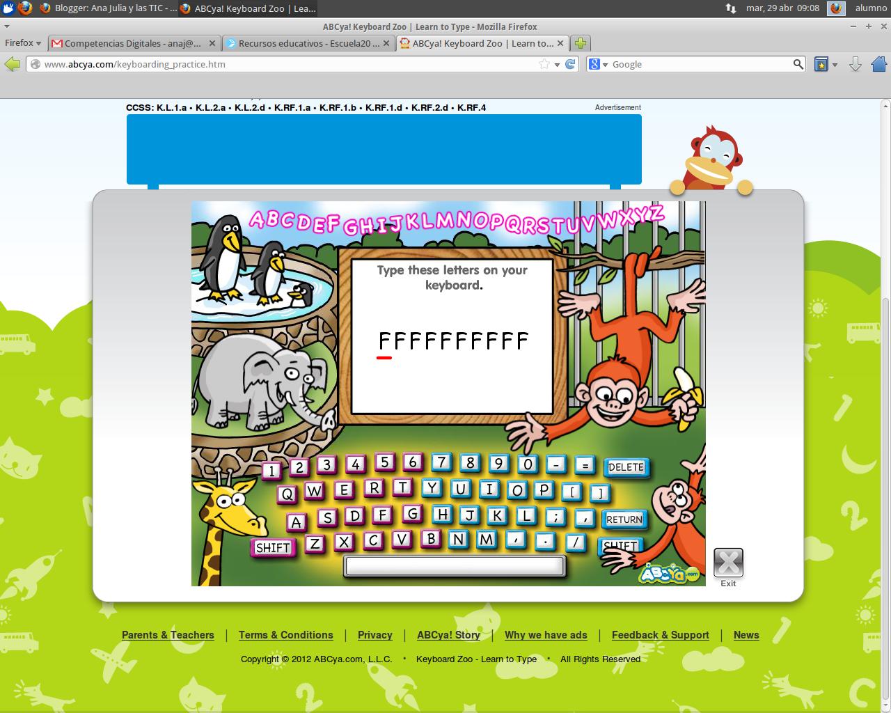 jump key keyboarding game abcya! abcya! - HD1280×1024