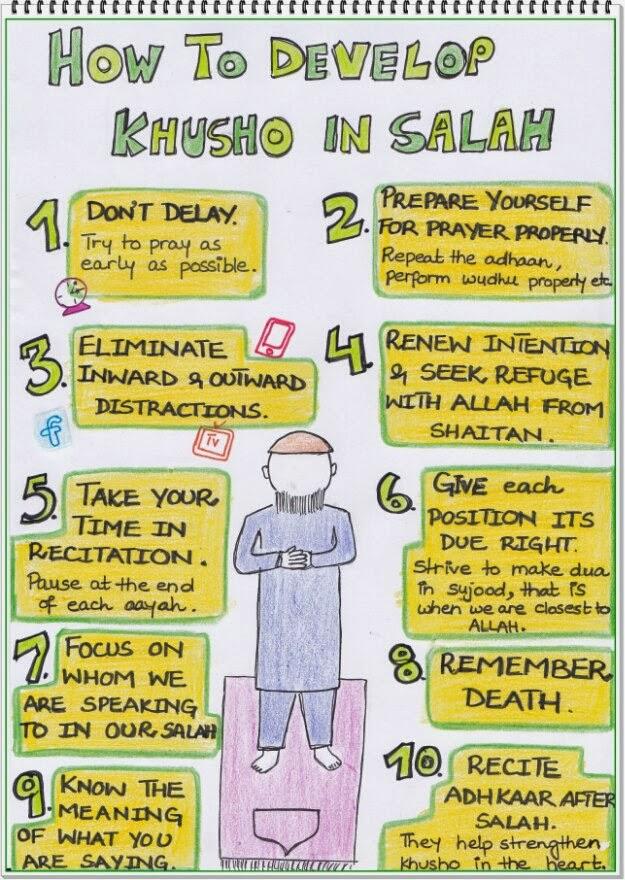 10 Cara Untuk Khusyuk Dalam Solat