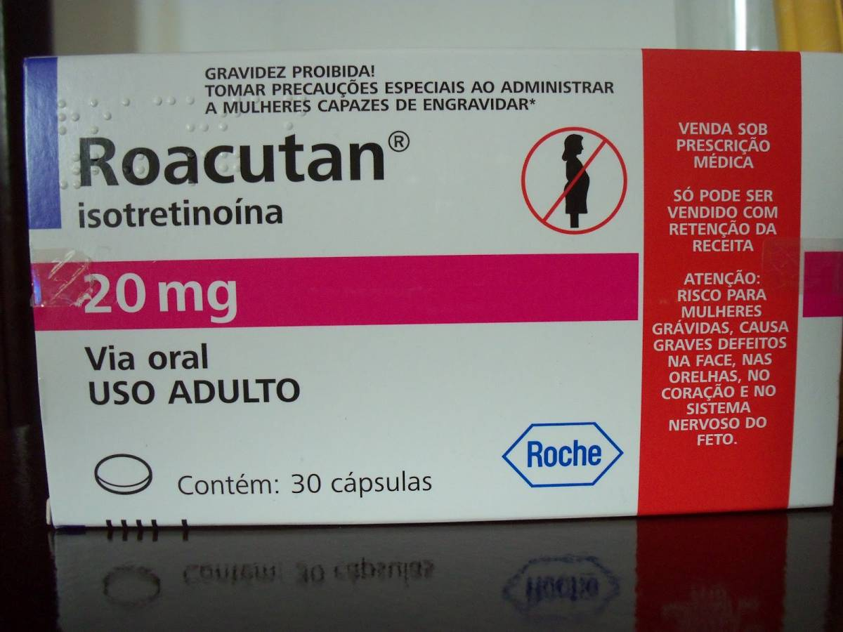 Roacutan (Isotretinoina) Embalagem