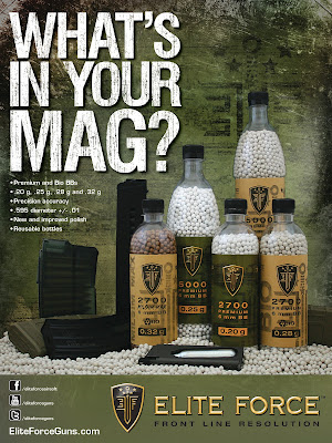 Elite Force Airsoft BBs, Airsoft ammo, What's in your mag?, airsoft bbs for sale, airsoft ammo for sale, bulk airsoft ammo, cheap airsoft bbs, cheap airsoft ammo, precision airsoft bbs, precision airsoft ammo, Pyramyd Air, Umarex, Pyramyd Airsoft Blog, Tom Harris Media, Tominator,