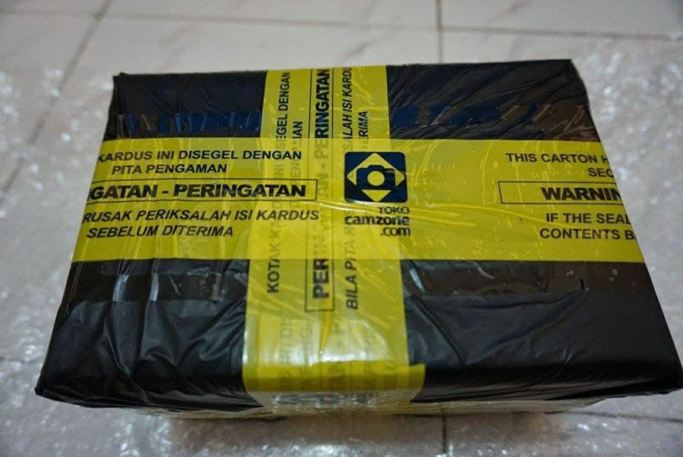 paket diamankan dengan segel
