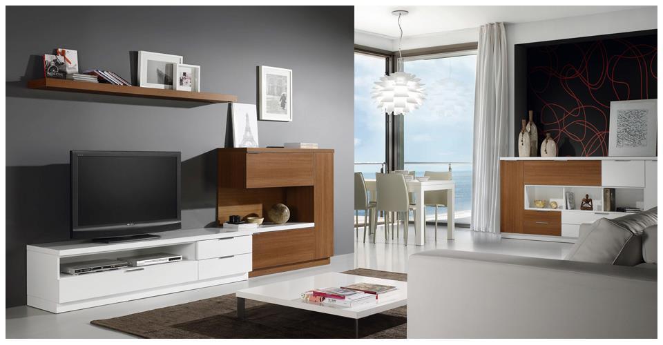 Melamine muebles entretenimiento comerciales - Salon decoracion comedor moderno ...