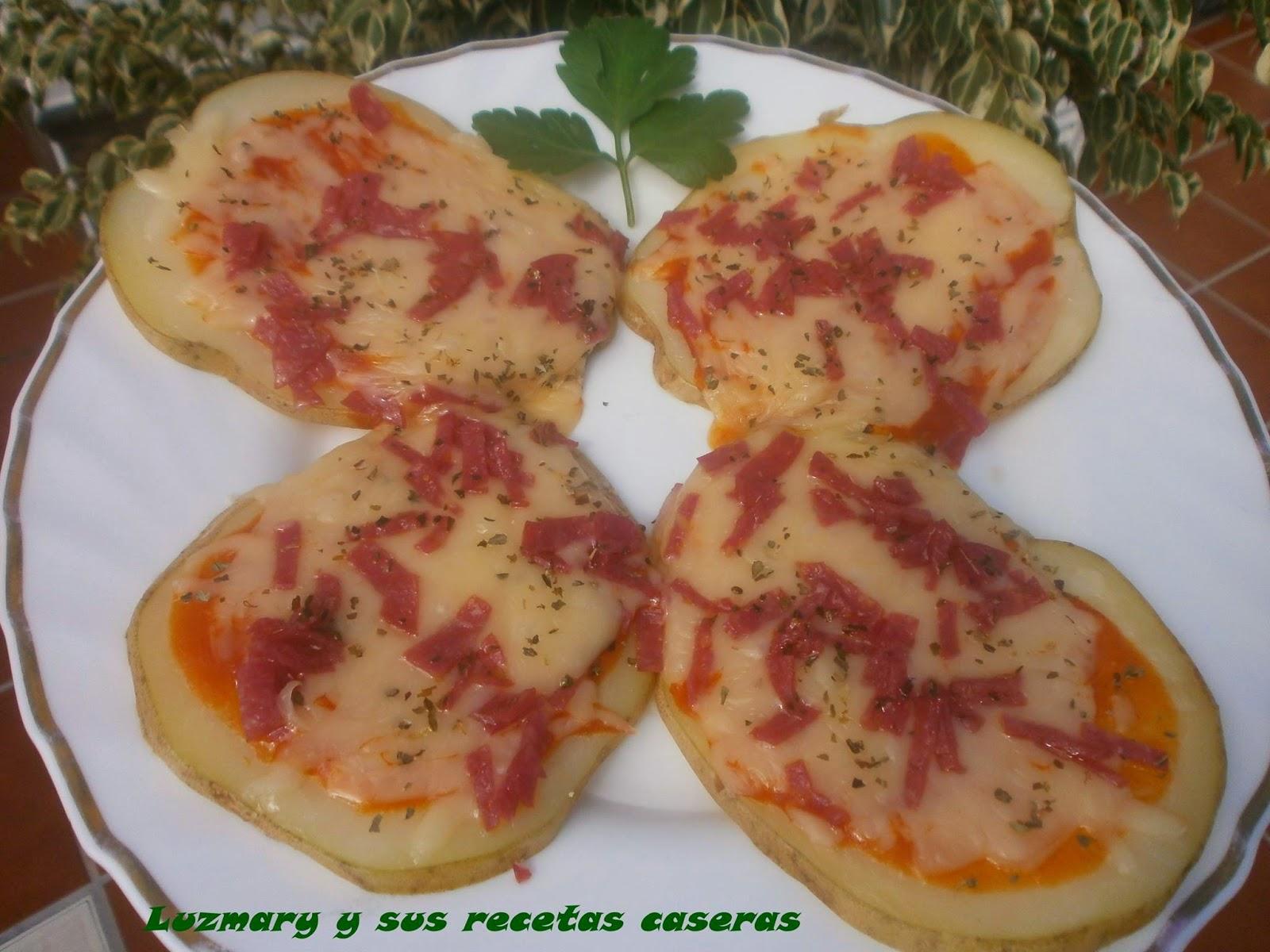 Luzmary y sus recetas caseras patatas pizza al microondas for Comidas hechas en microondas
