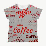NEW!! Magic Coffee Silver Women's Allover Print Tee