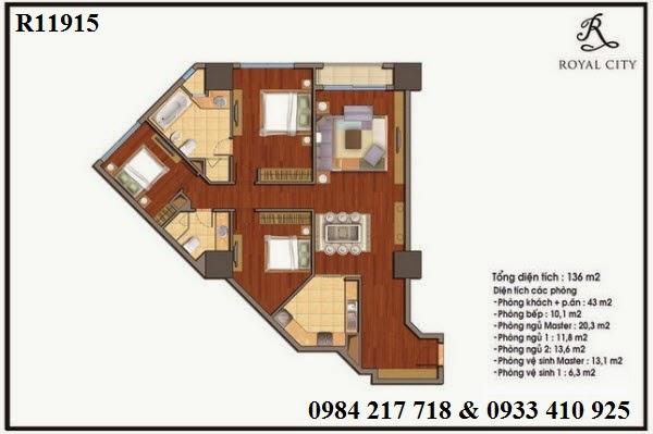 Mua bán căn hộ chung cư Royal City, bán căn hộ Royal City R11915