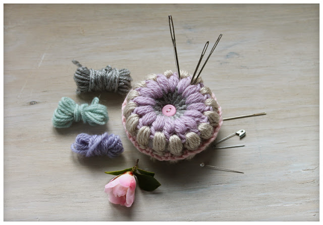 Puff Stitch Pincushion crochet pattern