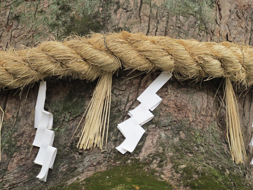 Shimenawa Shinto Sacred Rope, Japanese shrine