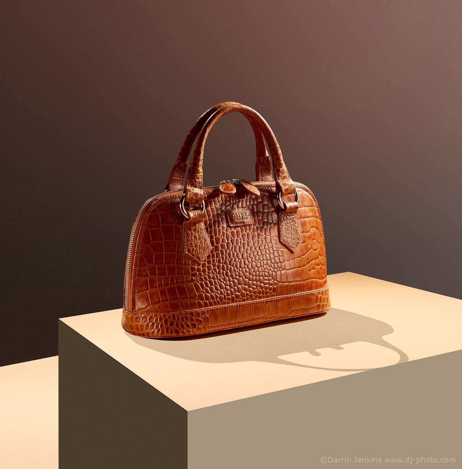 Product photograph of a high quality luxary Osprey handbag