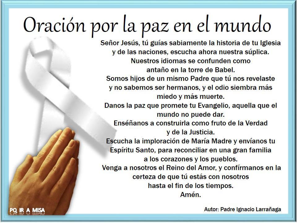 Oración por la paz de Colombia - YouTube