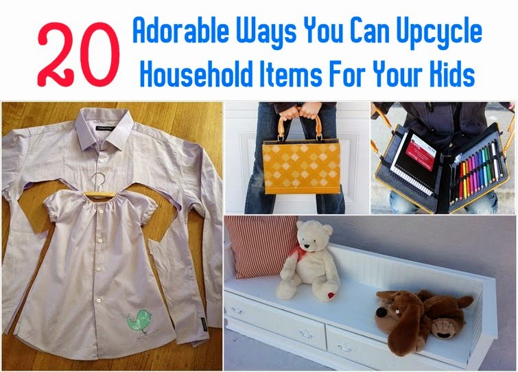 20 adorable ways you can upcycle household items for your for Fun diy projects with household items
