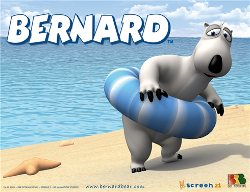 Wallpaper bernard bear cartoon
