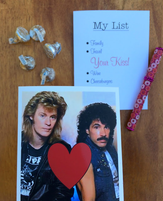 Because your kiss is on my Valentine's Day List! Fun 80s inspired printable Valentine | www.jacolynmurphy.com