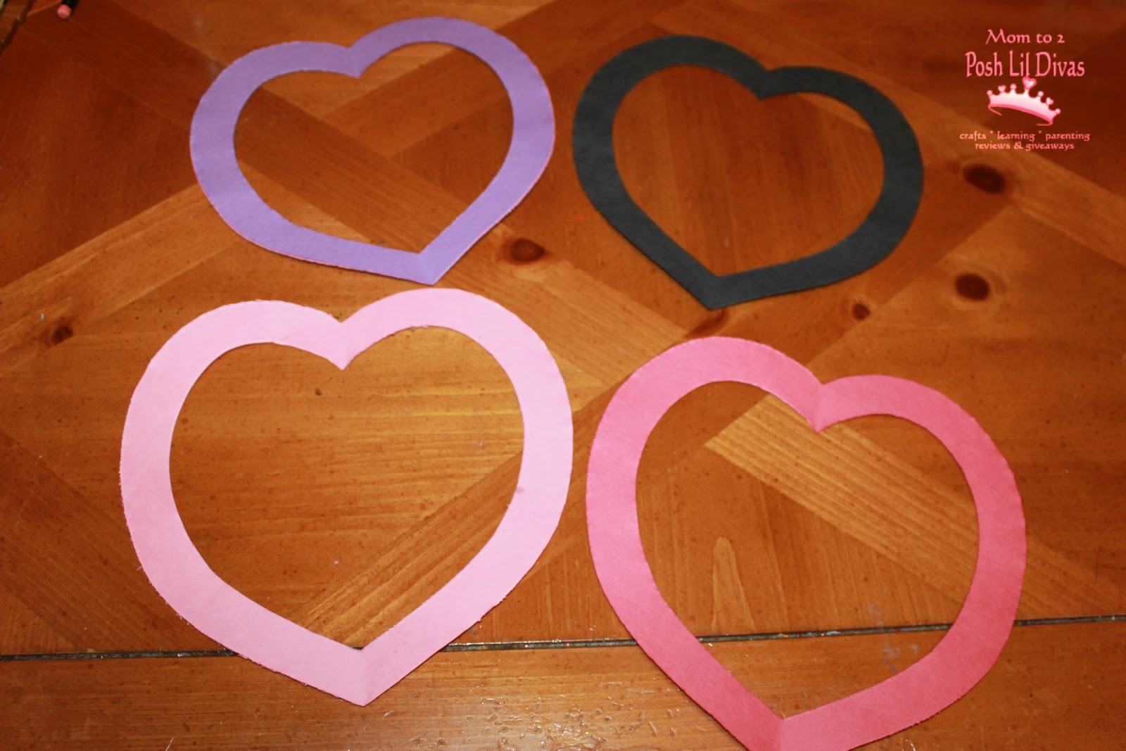5 glue the construction paper to the back of your heart for Coffee crafts