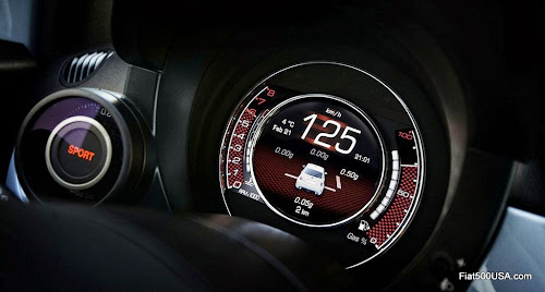 European 2014 Abarth 500 Digital Instrument Panel