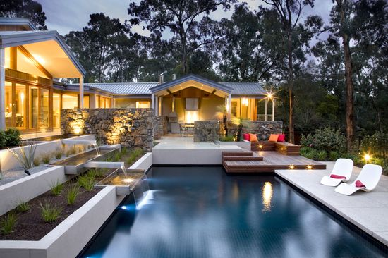 Outdoor kitchen and entertaining area kitchen design for Pool design eltham