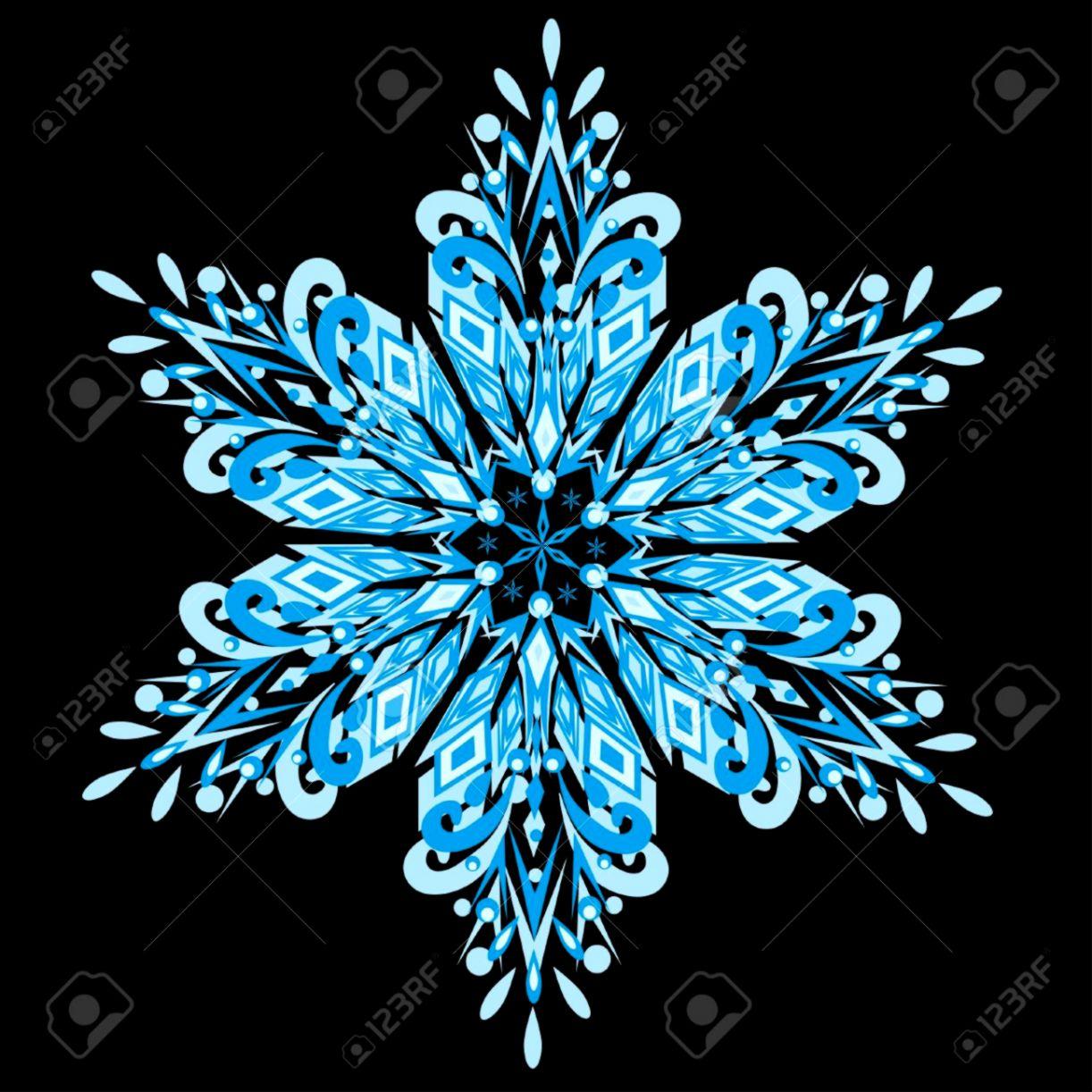 Black Snowflake wallpaper – wallpaper free download