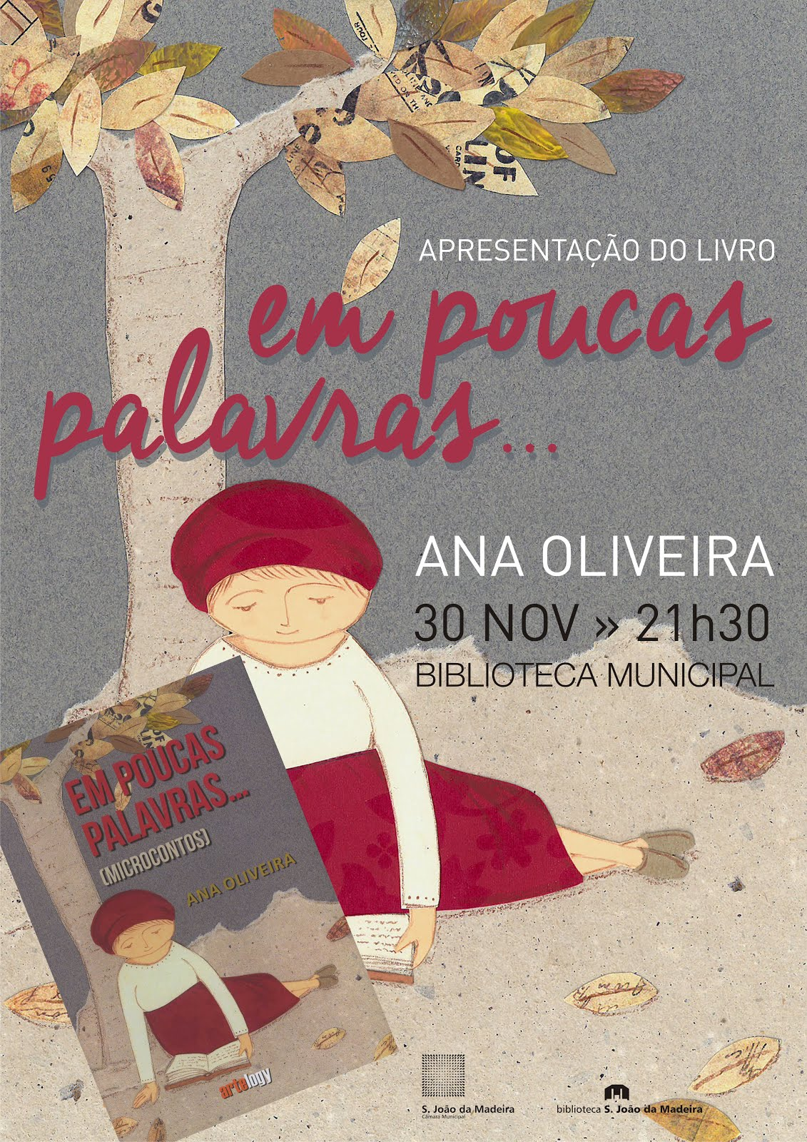 """Apresentação do livro """"Em poucas palavras... : microcontos de Ana Oliveira"""