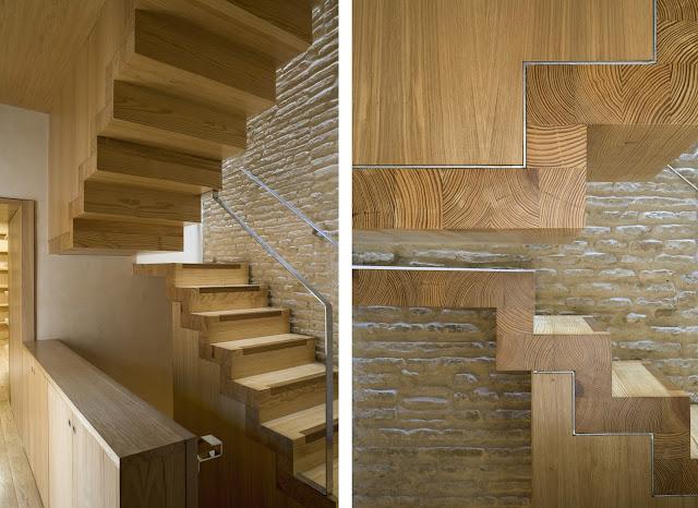Casa hermandad de la vera cruz en jerez rehabilitaci n - Como se hacen escaleras de madera ...