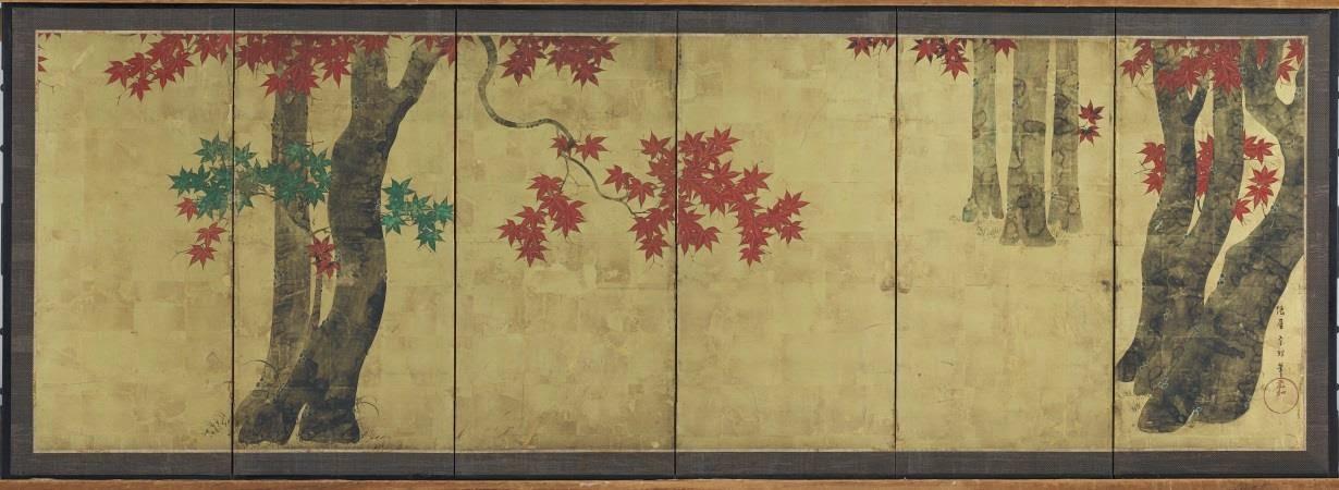 paravent à 6 feuilles peinture japonaise