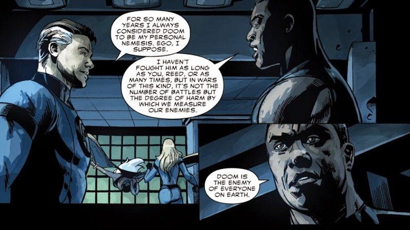 In An Intriguing Bit Dr Doom Is Able To Pass The Panther God And Enter Vibranium Chamber By Explaining That Only Future Of Human Race