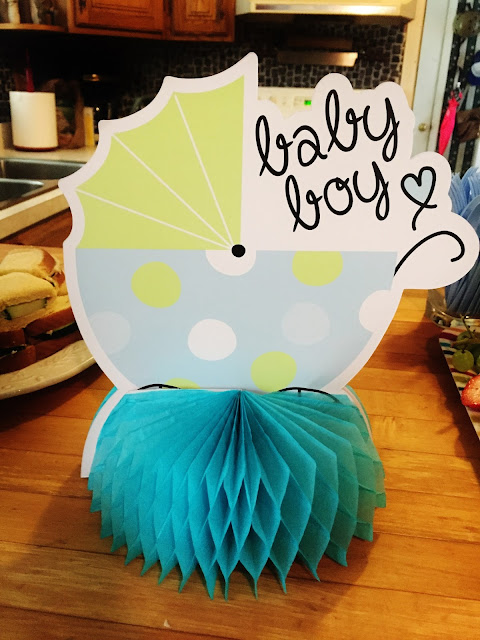 Baby Shower, Baby Boy Table Topper