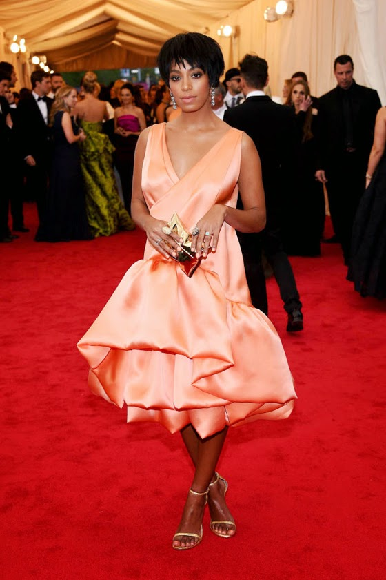 Solange Knowles Phillip Lim dress Met Gala 2014