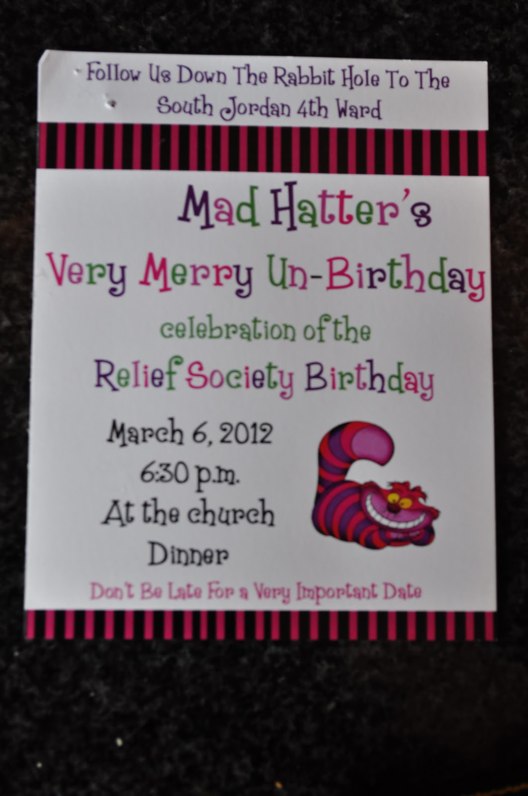The Carroll\'s: Relief Society Mad Hatter Unbirthday Party