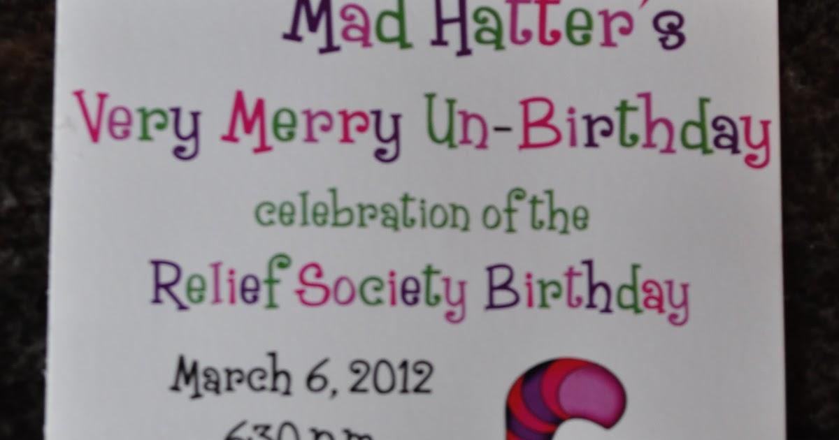 Relief Society Birthday Invitations Gallery - Invitation Templates ...