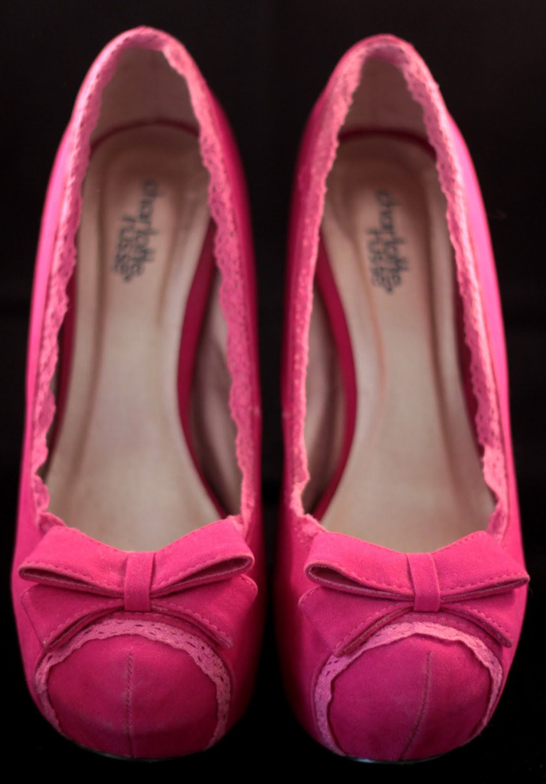 Shocking Pink High Heels