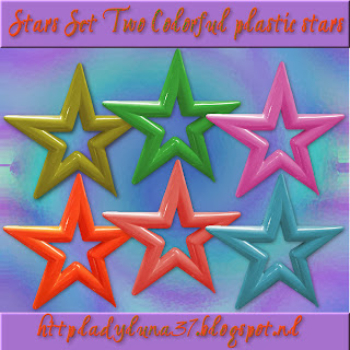 Freebie: Stars Set Two: Colorful Plastic Stars
