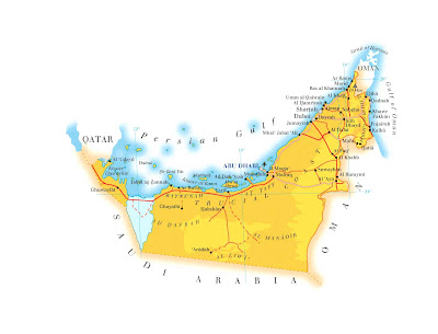 United Arab Emirates Map Political Regional